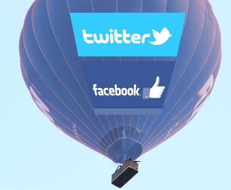 In schwindelerregender Höhe: Aktien von Twitter und Facebook
