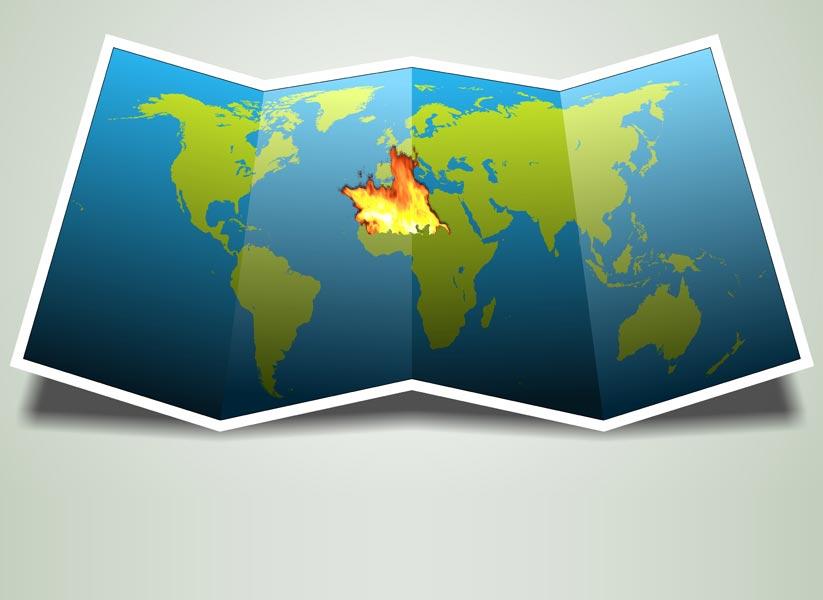 Flächenbrand in Westafrika